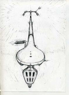 t_shirt_graphic, drawing vintage bicycle Велосипед. Автор Любимов Алексей/Autor Alexei Lubimov