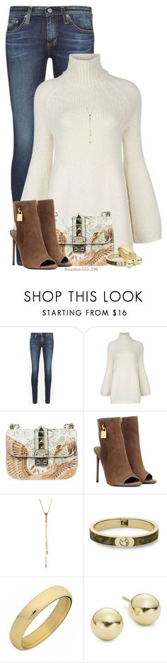 """""""Bell Sleeve Turtleneck"""" by houston555-396 ❤ liked on Polyvore featuring AG Adriano Goldschmied, Rosetta Getty, Valentino, Tom Ford, Argento Vivo, Michael Kors and Lord & Taylor"""
