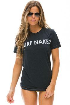 SURF NAKED TEE - CHARCOAL