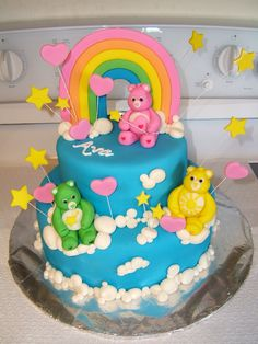 Ah, minha infância... bolo ursinhos carinhosos