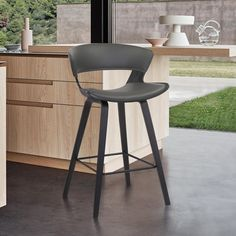 Swivel Counter Stools, Counter Height Bar Stools, Wood Bar Stools, Leather Bar Stools, Furniture Styles, Furniture Decor, Leather Furniture, Walnut Furniture, Dining Room Inspiration