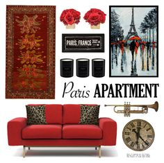 """""""Paris Apartment"""" by lgb321 ❤ liked on Polyvore featuring interior, interiors, interior design, home, home decor, interior decorating, Modloft, Orientalist Home, The French Bee and CB2"""