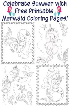 Free Mermaid Coloring Pages . Elegant Free Mermaid Coloring Pages . Detailed Mermaid Coloring Pages – Crunchprint Beach Coloring Pages, Mermaid Coloring Book, Birthday Coloring Pages, Spring Coloring Pages, Unicorn Coloring Pages, Coloring Pages For Kids, Coloring Books, Coloring Sheets, Fairy Coloring