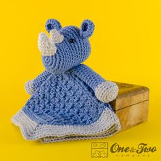 Max the Rhino Lovey / Security Blanket PDF por oneandtwocompany, $3.99