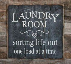 Large Wood Sign - Laundry Room - Farmhouse Sign - Subway Sign - Shabby Chic - Home Decor - Laundry Sign - Laundry Room Decor - House Warming. Home Decor Signs Sayings Painted Signs, Wooden Signs, Hand Painted, Wood Crafts, Diy And Crafts, Acorn Crafts, Laundry Room Design, Laundry Rooms, Basement Laundry