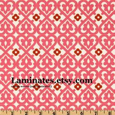 SALE Indian Summer cotton fabric pink C2612 Damask by the yard yardage. $7.95, via Etsy.