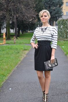 STRIPED DRESS #outfit #ootd #fbloggers #bloggers #fashionbloggersitaly #marella #majique