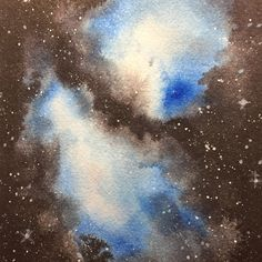 Watercolor Night Sky, Deep Space, Night Skies, Galaxies, Celestial, Outer Space