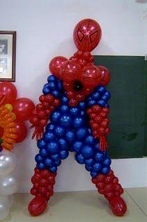 araña spiderman en globos - Buscar con Google