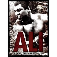 Muhammad Ali Playing Cards: Muhammad Ali's famous boxing matches are depicted on 52 playing cards in this collector deck.  http://www.calendars.com/MMA-Boxing-and-Wrestling/Muhammad-Ali-Playing-Cards/prod201300010094/?categoryId=cat90004=cat90004