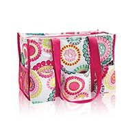 Zip-Top Organizing Utility Tote in Citrus Medallion | Thirty-One Gifts