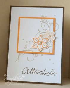 Falling Flowers, Stampin 'Up ! May Flower thinlits, LOVE