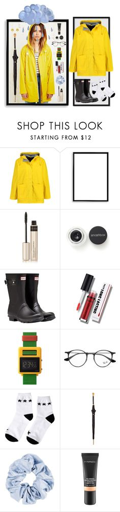 """Waterproof Wonder"" by hanolaughter ❤ liked on Polyvore featuring Boohoo, Bomedo, By Terry, Smashbox, Hunter, Void, Ray-Ban, Alexander McQueen, MAC Cosmetics and BillyTheTree"