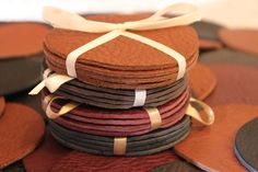 Hey, I found this really awesome Etsy listing at https://www.etsy.com/listing/116675783/leather-coasters-handmade-in-usa-set-of