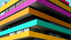 German student Paul Eis has been documenting the buildings of Berlin and Hamburg on Instagram, but adapting them with bright colours
