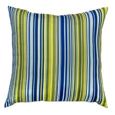 Greendale Home Fashions Outdoor Accent Pillows, Lagoon Stripe, Set of 2.  List Price: $36.99  Buy New: $33.92  You Save: 8%  Deal by: SmartPillowShoppers.com