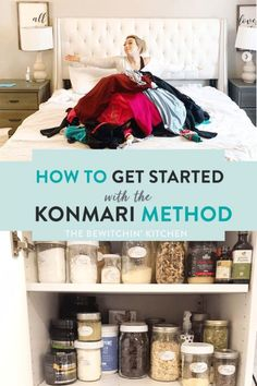 How to get started with the KonMari Method. Whether you need to organize the clothes in your closet, your kitchen and pantry, The Life Changing Magic of Tidying up by Marie Kondo is a game changer. Marie Kondo organizing has changed my life. Closet Organization, Kitchen Organization, Organization Ideas, Storage Ideas, Storage Hacks, Konmari Methode, Declutter Your Life, Marie Kondo, Tidy Up