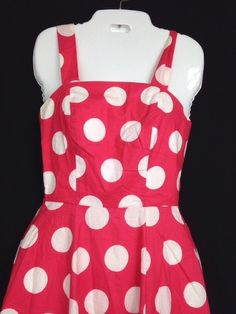Laura Ashley Pink And White Polka Dot Dress Made In Great Britain Size 4 #LauraAshley #TeaDress #Party