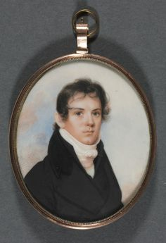 Portrait Miniature, c. 1810 - John Wesley Jarvis (American, 1781-1840) - Watercolor on ivory, Framed: 7.30 x 6.30 cm (2 13/16 x 2 7/16 inches); Unframed: 7.30 x 5.72 cm (2 13/16 x 2 1/4 inches)