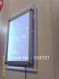 acrylic a3 size wall display led box advertisingmovie poster frames sign us 49500