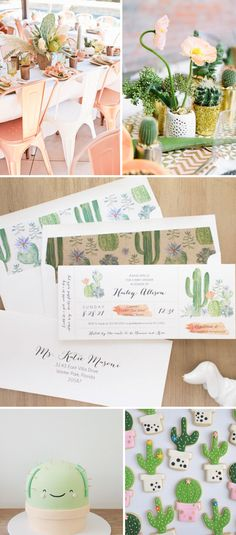 Cactus Baby Shower Invites With Cute Envelope Liners. New From Beacon Lane!
