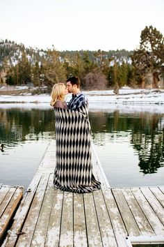 cute!!! all wrapped up :) These cold weather engagement photos will warm your heart! | CHARD Photographer