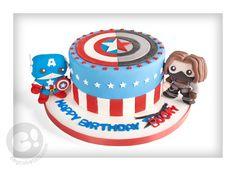 Pop Funko Bucky and Captain America birthday cake