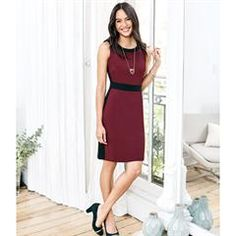 Flattering Ponte Sheath Dress