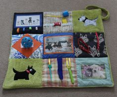 Alzheimers & Memories ~ Fidget lap blanket.   Anybody who likes dogs will love this. Ideal for use with wheelchair. Soft, warm, different !