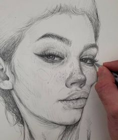 love sketching with simple pencils because there're so many possibilities to draw a Pencil Art Drawings, Realistic Drawings, Drawing Faces, Art Drawings Sketches, Sketches Of Faces, Simple Face Drawing, Pencil Sketching, Art Illustrations, Portrait Sketches