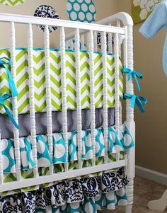 Custom Crib Bedding for a Boy or a Girl by SimplySassynSweet