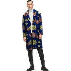 Add African clothes to your closet with formal office African clothing. Shop for African Attire, Dashikis, Clothing from Africa, Dress African, Daishiki & Trench Coat Men, Weird Fashion, Dashiki, African Attire, Blazers For Men, Gentleman Style, Single Breasted, Cotton Fabric, Kimono Top