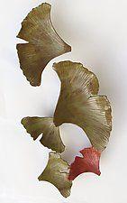"Ginkgo by Amy Meya (Ceramic Wall Sculpture) (50"" x 25"")"
