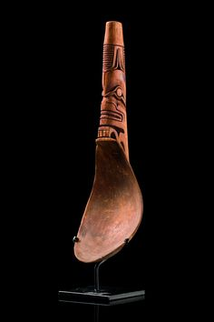 Spoon, North America, Haida - Read more: http://www.tribal-art-auktion.de/en/catalogue173/d10_40/#ixzz3NaL5g6Fs
