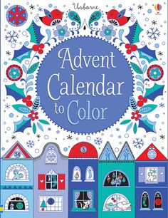 Buy Advent Calendar to Colour by Stella Baggott at Mighty Ape Australia. A fold-out advent calendar featuring a black and white street scene, to colour a bit each day in the run-up to Christmas. There are doors and windows . Christmas Books, Christmas Countdown, Christmas Crafts, Christmas Ideas, Christmas Town, Christmas 2015, Homemade Christmas, Advent Calendars For Kids, Kids Calendar