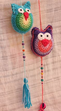 Owl Crochet Patterns, Crochet Mandala Pattern, Crochet Owls, Love Crochet, Crochet Designs, Crochet Baby, Crochet Animals, Woolen Craft, Diy Crochet Projects