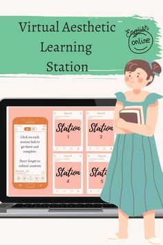 This very aesthetic, digital themed, virtual learning station is perfect to make learning interactive and engaging. Included is learning stations hub with interactive links to 6 different learning stations 6 different station slides with active hyperlinks and space to enter station details Final slide page to enter station responses. All active hyperlinks done for you Instructions on how to use Very aesthetic images with a digital theme.
