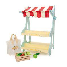 Le Toy Van - markedsstand med frugtkasse