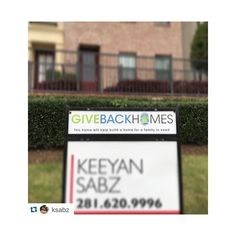 #Repost @ksabz #forsocialgood ・・・ Excited to announce my new partnership through my new listing with @givebackhomes - For every home that I sell, I will make a contribution to help build a home for a family in need!  #top20under40htx #givebackhomes #homeschangelives