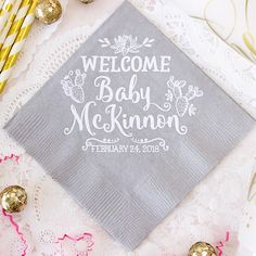 542ecc0ba5 Cactus Baby Shower Personalized Napkins Succulent Theme Cocktail Beverage  Luncheon Dinner Gender Reveal Custom Napkins Party Napkins