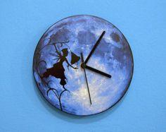 Blue Moon Fairy - Wall Clock