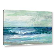 Silvia Vassileva's 'Tide' is a gorgeous abstract reproduction featuring a flowing array of cool blues that resembles the ocean waves. A wonderful piece that will add color and a soothing to any home o