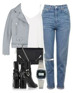 A fashion look from June 2016 featuring cami tank, leather jackets and leather ankle booties. Browse and shop related looks. Fall Winter Outfits, Spring Outfits, Polyvore Winter Outfits, Fall Fashion Trends, Autumn Fashion, Look Fashion, Fashion Outfits, Fall Travel Outfit, Travel Attire
