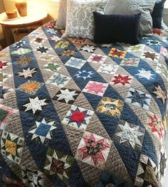 Civil War Quilts: Stars in a Time Warp: Finishes in 2017 Strip Quilts, Mini Quilts, Quilt Blocks, Star Blocks, Civil War Quilts, Time Warp, Quilt Sizes, Vintage Quilts, So Little Time