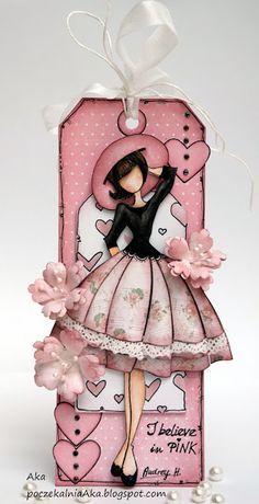 me ~ Best Diy Paper Butterflies Scrap Ideas Prima Paper Dolls, Prima Doll Stamps, Diy Paper, Paper Art, Paper Crafts, Card Tags, Gift Tags, I Believe In Pink, Paper Butterflies