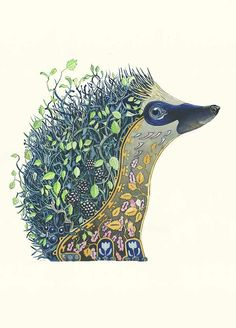 Hedgehog at Night - This artist is crazy talented.