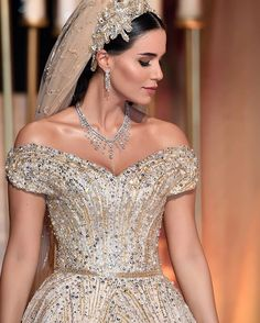 This Lebanese Bride's Custom Wedding Dress Was So Magical, It Got Its Own Hashtag She Completed Her Look With Dripping Mouawad Jewels