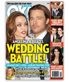 Angelina Jolie and Brad Pitt Are Having Wedding Battles (Photo)