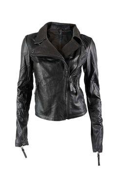 Barbara I Gongini leather jacket. Shop now at www.sustainlux.com