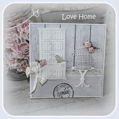 Kaart gemaakt met de stencils uit de Love Home serie.